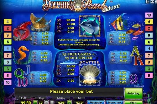 В игровых автоматах Жемчужина Дельфина вы сможете зарабатывать реальные деньги